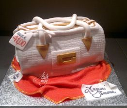 Cake Design Feste Fashion Scolpite Borsa